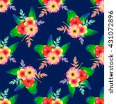 seamless pattern of tropical... | Shutterstock .eps vector #431072896