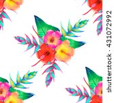 Seamless Pattern Of Tropical...