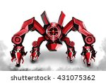 illustration of  red robot... | Shutterstock . vector #431075362