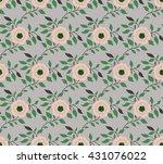 classic wallpaper seamless... | Shutterstock .eps vector #431076022