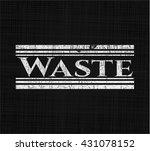 waste chalkboard emblem | Shutterstock .eps vector #431078152