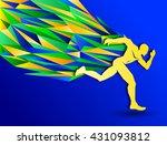 Marathon Running Man  Abstract...