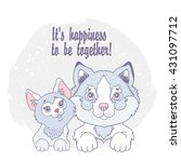 it's happiness to be together ... | Shutterstock .eps vector #431097712