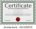 certificate template eps10 jpg... | Shutterstock .eps vector #431100925