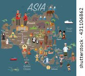 asia map and travel | Shutterstock .eps vector #431106862