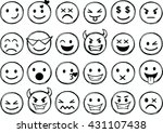 set of different smileys vector.... | Shutterstock .eps vector #431107438