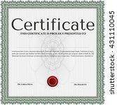diploma template. vector... | Shutterstock .eps vector #431110045