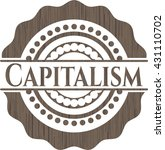 capitalism retro wood emblem | Shutterstock .eps vector #431110702