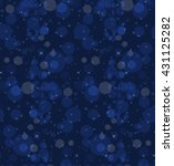 bokeh blue dark night.seamless... | Shutterstock .eps vector #431125282