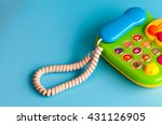 colorful plastic toy mobile... | Shutterstock . vector #431126905