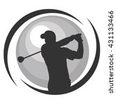 golf vector graphic design for... | Shutterstock .eps vector #431133466