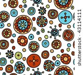 seamless hand drawn pattern | Shutterstock .eps vector #43114111