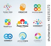 people idea logo collection ... | Shutterstock .eps vector #431151172