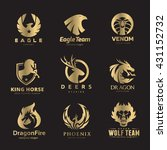 animal logo collection... | Shutterstock .eps vector #431152732