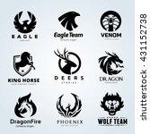 animal logo collection   eagle  ... | Shutterstock .eps vector #431152738