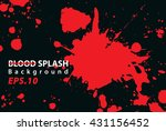 blood splash texture background ... | Shutterstock .eps vector #431156452