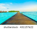 beautiful tropical maldives... | Shutterstock . vector #431157622