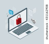 computer safety. isometric 3d... | Shutterstock .eps vector #431162908