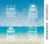 summer sale labels   Shutterstock .eps vector #431165512
