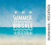 summer sale label | Shutterstock .eps vector #431165626