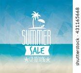 summer sale label   Shutterstock .eps vector #431165668