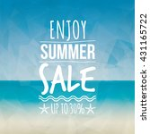 summer sale label   Shutterstock .eps vector #431165722
