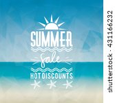 summer sale label | Shutterstock .eps vector #431166232