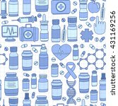 pharmacy and medicine doodle... | Shutterstock .eps vector #431169256