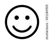 happy smiley face emoticon line ...