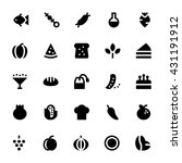 Food And Drinks Vector Icons 2