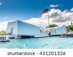uss arizona memorial in pearl... | Shutterstock . vector #431201326