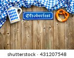 rustic background for... | Shutterstock . vector #431207548