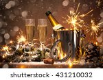 new years eve celebration... | Shutterstock . vector #431210032
