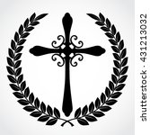 silhouette laurel wreath with... | Shutterstock .eps vector #431213032