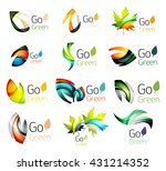 multicolored abstract leaves in ... | Shutterstock .eps vector #431214352