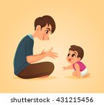 father and baby son  vector... | Shutterstock .eps vector #431215456