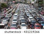 bangkok   june 3  traffic jam... | Shutterstock . vector #431219266