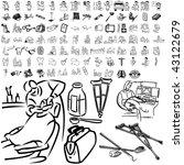 medical set of black sketch.... | Shutterstock .eps vector #43122679
