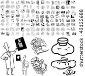 medical set of black sketch.... | Shutterstock .eps vector #43122688
