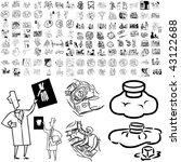 medical set of black sketch.... | Shutterstock .eps vector #43122688