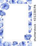 blue watercolor hydrangea... | Shutterstock . vector #431238196