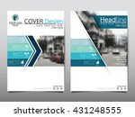 blue technology annual report...   Shutterstock .eps vector #431248555