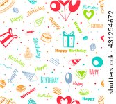 happy birthday  greeting pattern | Shutterstock .eps vector #431254672