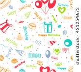happy birthday  greeting pattern | Shutterstock .eps vector #431254672
