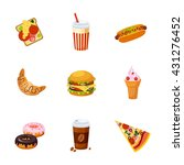 fast food items set of...   Shutterstock .eps vector #431276452
