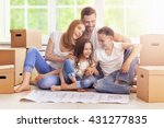 happy family in new home | Shutterstock . vector #431277835