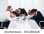 group of unhappy businesspeople ... | Shutterstock . vector #431280628