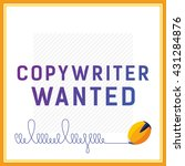 hiring card with job offer....   Shutterstock .eps vector #431284876