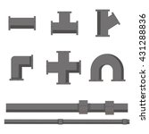 collection of pipe pieces of... | Shutterstock .eps vector #431288836