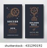 soccer championship posters... | Shutterstock .eps vector #431290192